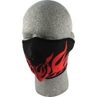 ZANheadgear Neoprene Half Mask Red Flames - WNFM229RH