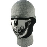 ZANheadgear Neoprene Half Mask Glow in the Dark Skull Face - WNFM002HG