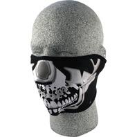 ZANheadgear Neoprene Half Mask Chrome Skull - WNFM023H