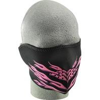 ZANheadgear Neoprene Half Mask Pink Flames - WNFM054H