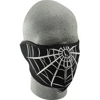ZANheadgear Neoprene Half Mask Spider Web - WNFM055H