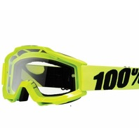 100% Accuri Flo Yellow Adult Off-Road Goggles w/ Clear Lens