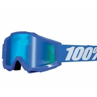 100% Accuri Blue Off-Road Goggles w/Mirror Lens