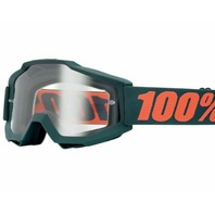 100% Accuri Gunmetal Gray Adult Off-Road Goggles w/ Clear Lens