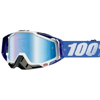 100% Racecraft CE-Aproved Off-Road Adult Goggles -  Cobalt Blue w/Mirror Lens