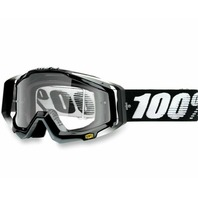100% Racecraft CE-Aproved Off-Road Adult Goggles -  Abyss Black w/ Clear Lens