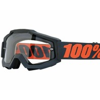 100% Acurri Enduro Goggles - Gunmetal Gray w/ Clear Lens