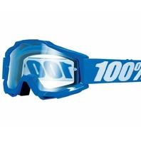 100% Accuri OTG Goggles - Reflex Blue w/Clear Lens