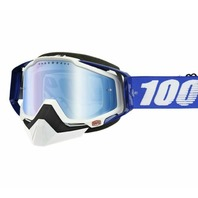100% Racecraft CE-Aproved Off-Road/Snow Adult Goggles -  Blue w/ Mirror Lens