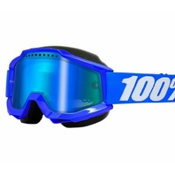 100% Accuri Off-Road/Snow Goggles - Blue w/Mirror Blue Lens