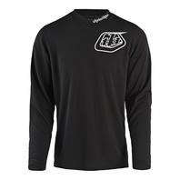 Troy Lee Designs GP MONO Solid Black Off-Road MX BMX Jersey -  6 Adult Sizes