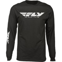 Fly Racing Men's Corporate Long Sleeve Tee - Black - Adult Sizes