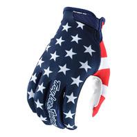 Troy Lee Designs Americana Flag & Stars Air Motocross Gloves - 5 Sizes