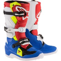 Alpinestars TECH 7S Youth MX CE Certified Boots - Blue/Red/Yellow - Sizes 2-8