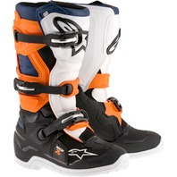 Alpinestars TECH 7S Youth MX CE Certified Boots - Black/Orange/Blue - Sizes 2-8