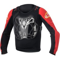 Alpinestars Youth Red/Black BIONIC Off-Road Protection Jacket - Kids O/S