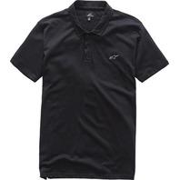 Alpinestars PERPETUAL Black Polo Shirt - Mens Small-2XL