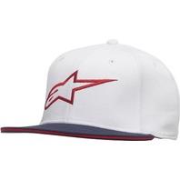 Alpinestars AGELESS Flat Bill Hat - White/Red - Sizes S-XL
