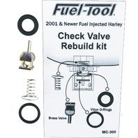 Fuel-Tool Fuel Check Valve Rebuild Kit for Harley 2001-16 Delphi models MC300