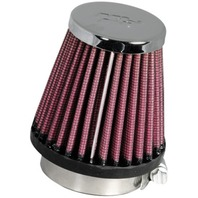 Round Tapered Chrome K&N Universal Air Filter - RC-1060