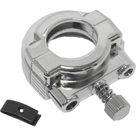 Universal Single Cable Throttle Handlebar Clamp (Chrome)