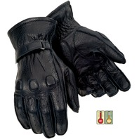 Tourmaster Custom Midweight Motorcycle Gloves w/Cowhide Leather - Sizes XS-2XL