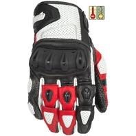 Cortech Impulse ST Gloves w/Impact Protection - White/Red - Men's Sizes XS-4XL