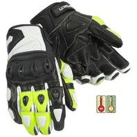 Cortech Impulse ST Gloves w/Impact Protection - White/Hi-Viz - Mens Sizes XS-4XL