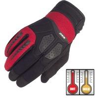 Cortech DXR Black/Red Performance Motorcycle Gloves - Men's XS-3XL