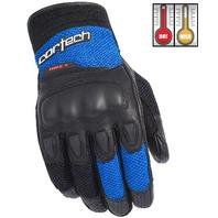 Cortech HDX 3 Blue/Black Textile & Leather Motorcycle Gloves - Men's XS-3XL