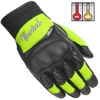 Cortech HDX 3 Hi-Viz/Black Leather Motorcycle Gloves - Womens Small-Large
