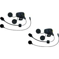 Sena Bluetooth Headset & Intercom w/FM Tuner Universal Microphone Kit- Dual Pack