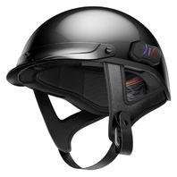 Sena Cavalry Gloss Black Half-Helmet w/ Built-in Bluetooth Communicator