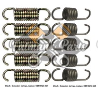 Snowmobile Exhaust Spring Replacement Kit for 97-98 Arctic Cat EXT600 ZRT600 800