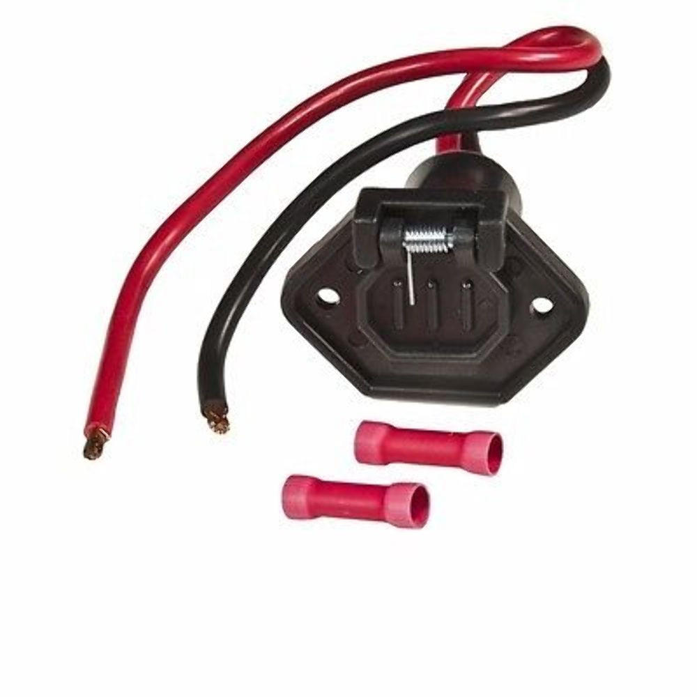 Sierra Male Boat Side Connector With 12 Volt 2 Wire