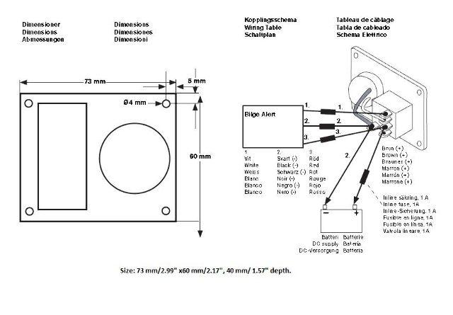 Bilge Alarm Wiring Diagram : Johnson pump bilge alert volt high water alarm w