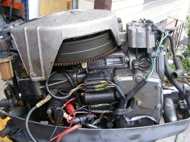 mercury 25 hp 2 stroke 1985 long shaft 20 serviced outboard engine motor remote ebay. Black Bedroom Furniture Sets. Home Design Ideas