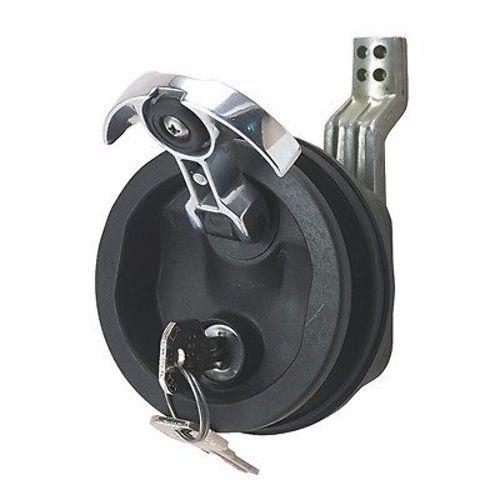 Perko fig surface mount lock key latch dp blk