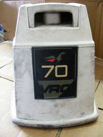 Johnson evinrude 70 hp vro engine cover top cowling outboard for Boat motor covers johnson