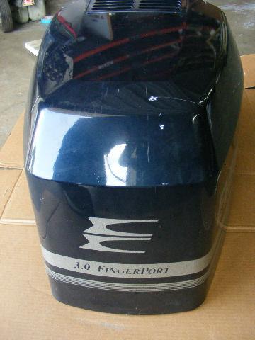 Johnson Evinrude Omc V6 185 200 225 Hp Engine Cover 3 0 Finger Port Outboard Ebay