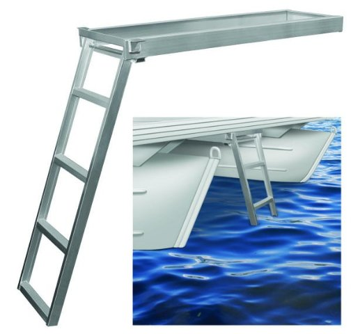 Jif Marine Csd1 Under Deck Aluminum Ladder 4 Step For Flat
