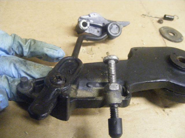 Mercruiser Throttle Lever : Mercury  hp spark advance throttle lever