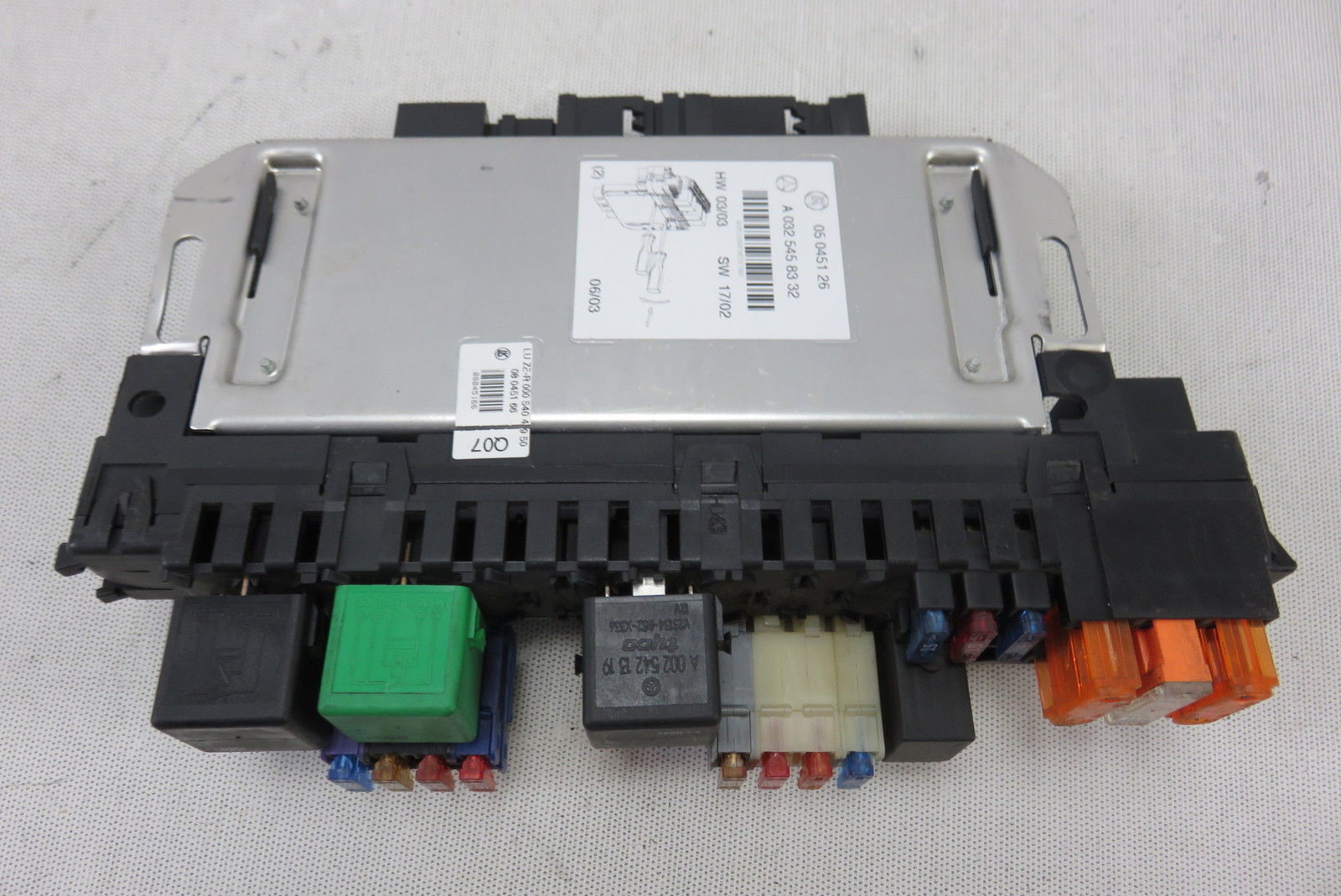 03 Mercedes Cl55 W215 Sam Control Module Fuse Box 0325458332 S500 S55 Cl500