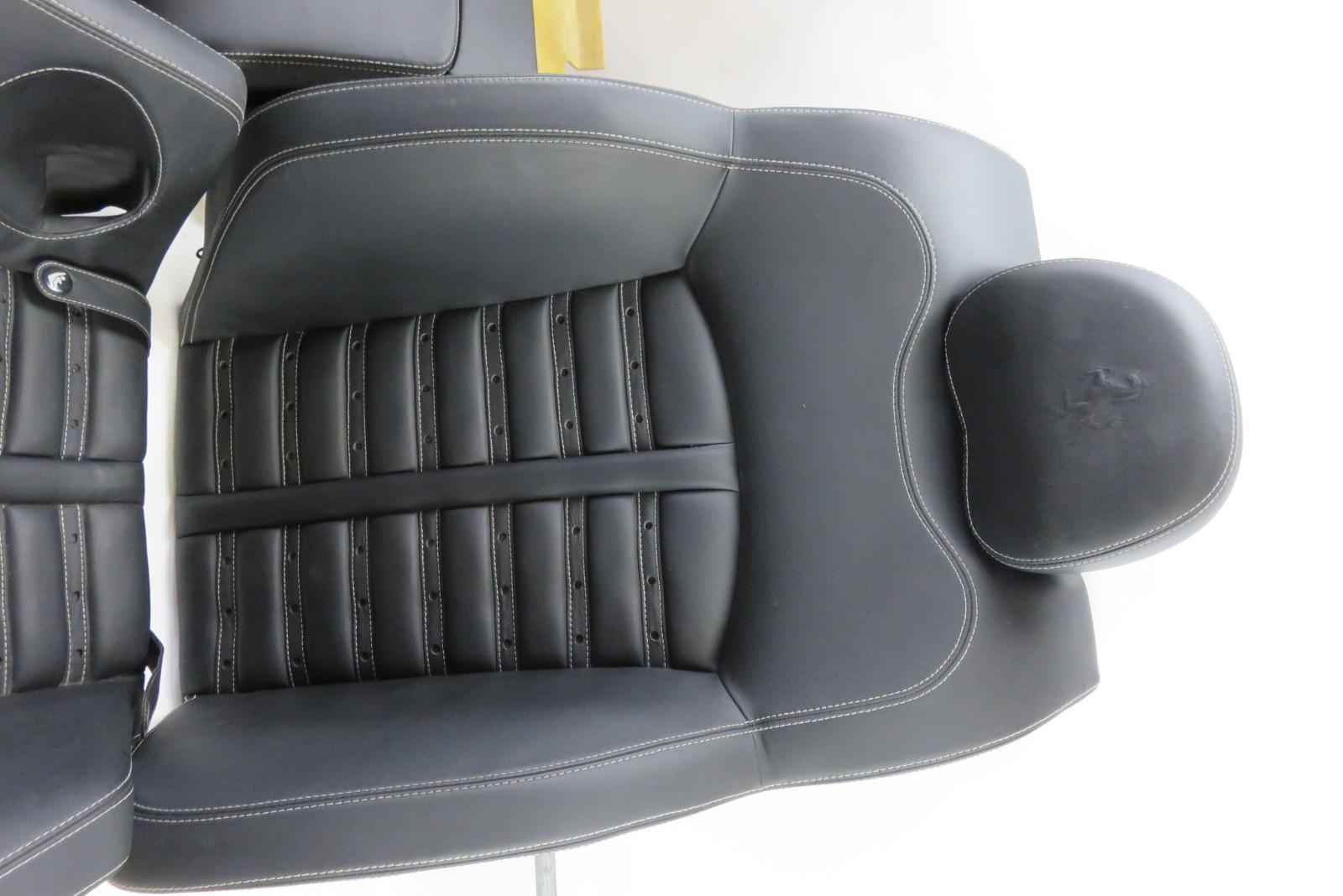 05 ferrari 612 scaglietti rear leather seats w center console black s auto parts