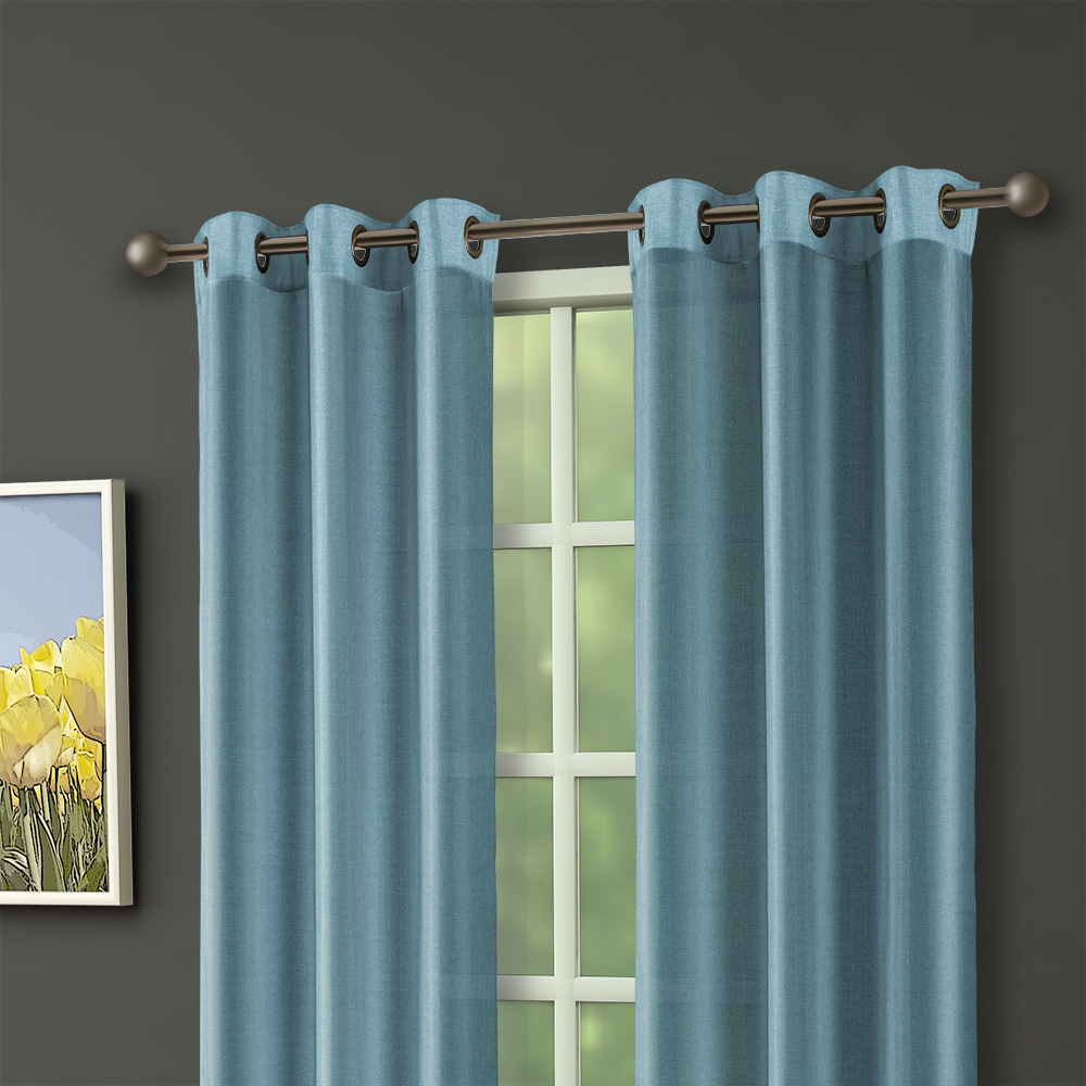 63 Thermal Lined Curtain Panels W Grommets Set Of 2 Aqua Steel Ebay