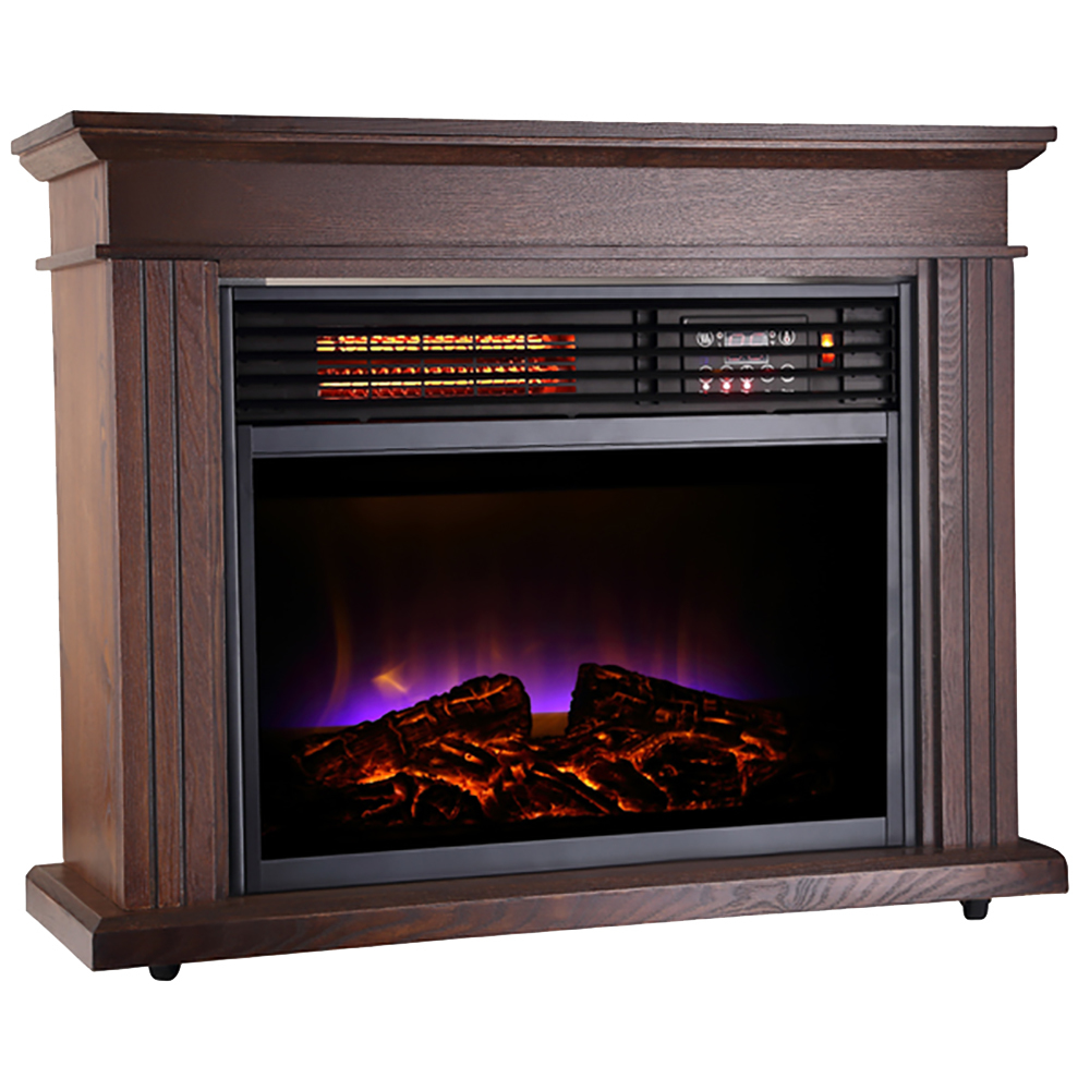 Warm Living Fireplace 1500w Infrared Quartz Room Space Heater Ebay