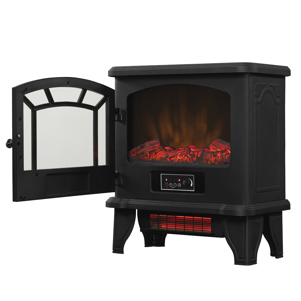 Electric fireplace duraflame dfi 550 22 infrared electric heater ebay - Small space wood stove model ...