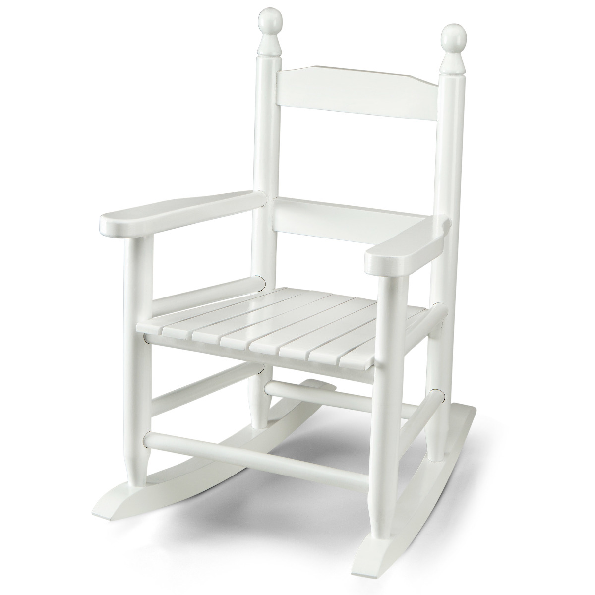 Wooden rocking chair for kids white ebay for White kids chair