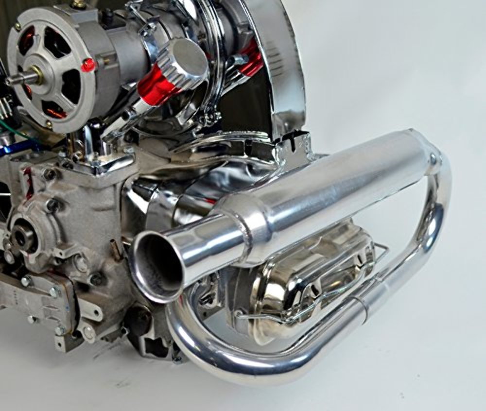 Dual Exhaust System Ceramic Dune Buggy Vw Baja Bug