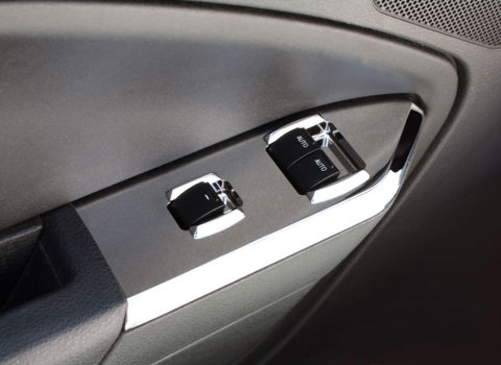 Pirate Mfg Mustang Convertible Chrome Billet Window Switch Plates